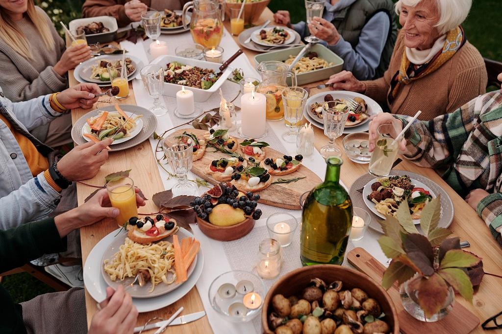 buiten eten groep